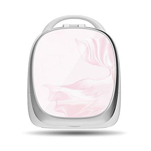 PsgWXL Boîtes de Rangement Cosmetic avec Miroirs à LED Rotatif de 180 Degrés Réglage D'Éclairage Smart Portable pour Salle de Bain WC Chambre Face Pivotant,Rose,Standard Version