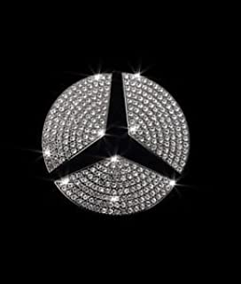 Exotic Store MB-C45 Crystal Rhinestone Bling Insert Steering Wheel Center Logo Emblem Badge For Mercedes-Benz A, B,C, E, S, CLA, GLA, GL, ML, GLE, GLC,GLK Class Emblem (For 45 mm Diameter)