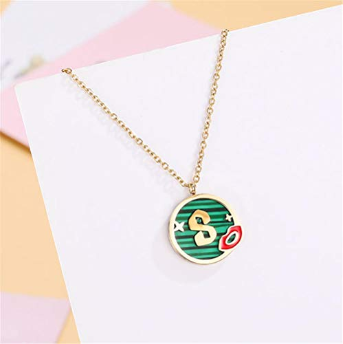 Collar Colgante Joyería Collar De Mujer Oro Rosa 316L Acero Titanio Collares Pendientes Cadena Trenzada Metal Mujer-1