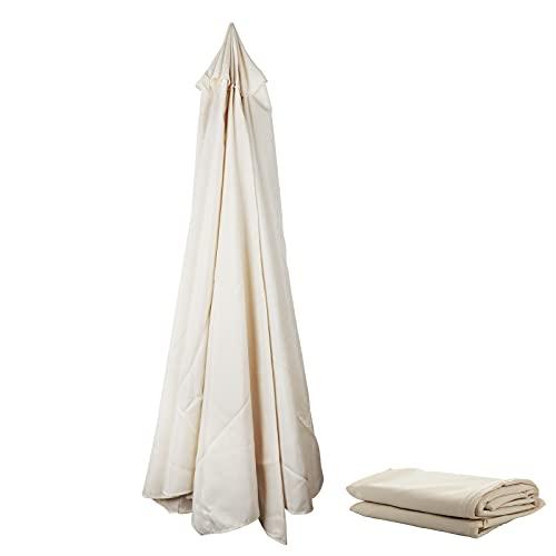 WERTSWF Toldo de repuesto para sombrilla de 3 m, cubierta de tela para sombrilla en voladizo para 8 costillas