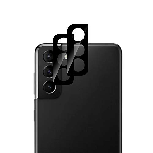 QULLOO Kamera Panzerglas Schutzfolie für Samsung Galaxy S21+ 5G, [2 Stück] Kamera Linse Panzerglasfolie Anti-Kratzen Kameraschutz für Samsung Galaxy S21 Plus Smartphone - Schwarz