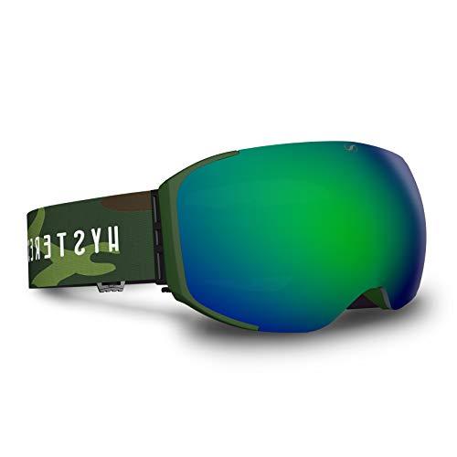 HYSTERESIS Freeride Magnet Soldeu Militar - Gafas De Esquí con Lentes Magnéticas Intercambiambles (2 Lentes Incluidas)