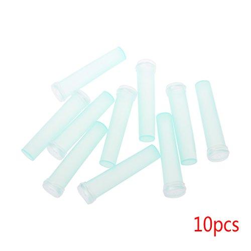 William-Lee 10/20 Stück Blumen Nutrition Tube Kunststoff mit Kappe Frischhaltebehälter