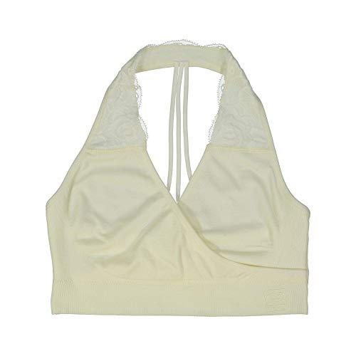 BRABAR Hug T-Back Lace Bralette, 28-32 C-DDD, Vanilla Ice