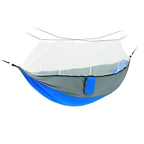 gris//bleu Cette bonne Hamac Double Camping Hamac avec hamac bretelles