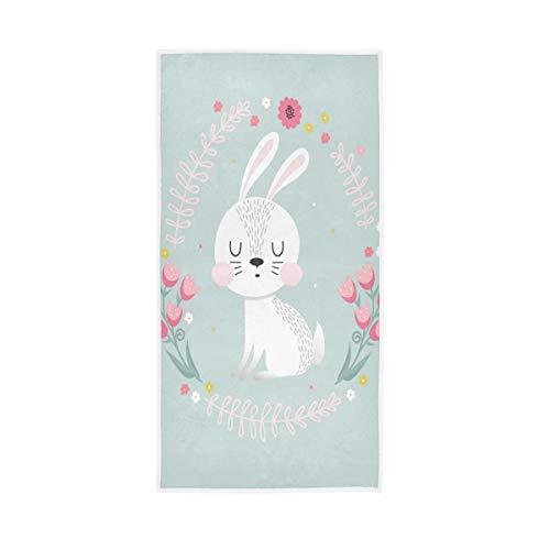 LUCKYEAH - Toallas de mano de algodón para niñas, mujeres, niños, toalla de mano suave absorbente para el sudor para el hogar, hotel, piscina, gimnasio, 76 x 38 cm