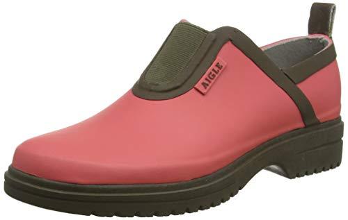 Aigle Damen Egoa Sabotin Clogs, Pink (Pink Rasberry/Kaki 001), 41 EU