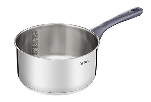 Tefal Daily Cook - Cazo de acero inoxidable de 18 cm, 1.5 Litros, base reforzada, aptas para todo tipo de cocinas incluido inducción, gran conductividad y resistencia con materiales reciclados