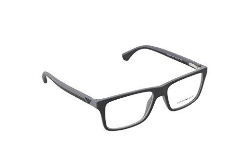 Óculos de Grau Emporio Armani EA3034 5229 Preto Fosco Lentes Tam 55