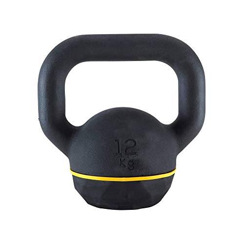 Laberry Boutique - Manubrio in plastica con pallina kettlebell per uomini e donne, allenamento muscolare, in gomma, 4 kg