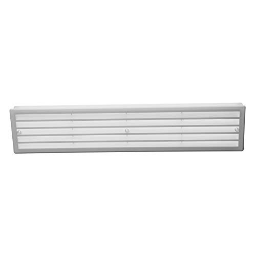 18x4'' Inch Bathroom Door Air Vent Grille Two Sided White Ventilation Cover No Screws Included (17.7