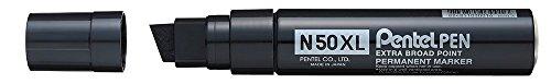 Pentel N50XL-A Marqueur Permanent XL Pointe Biseautée, Noir