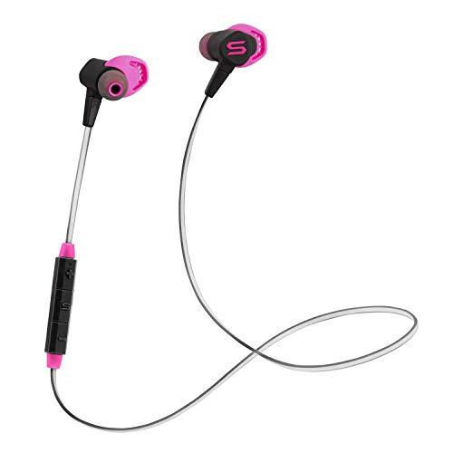 SOUL ELECTRONICS Run Free Pro X Sports Bluetooth 5.0 Kopfhörer mit magnetischen Clip-Design, wasserdicht und Schnell Aufladezeit (Vivid Pink)