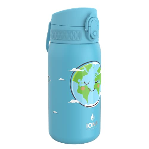 Ion8 Botella Agua Acero Inoxidable Termica Sin Fugas, 320ml, Tierra Feliz