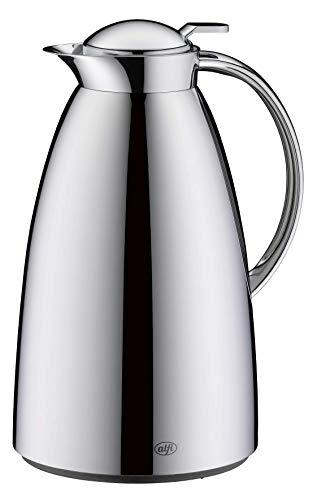 alfi Isolierkanne Gusto, Thermoskanne Edelstahl poliert 1,5L, alfiDur Glaseinsatz, auslaufsicher, hält 12 Stunden heiß, 3562.000.150 ideal als Kaffeekanne oder als Teekanne, Kanne für 10 Tassen