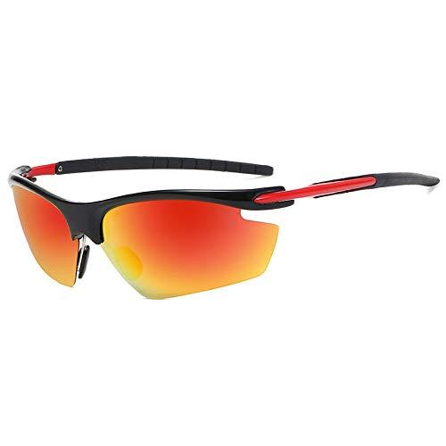 YFCTLM Los vidrios de Ciclo Gafas de Ciclismo Polarizadas Hombre polarizado Bicicleta Profesional Eyewear Conducción Pesca Deportes al Aire Libre Bicicleta Gafas de Sol a Prueba de Viento UV
