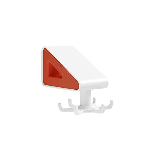 Soporte giratorio de 360° para toallas de papel debajo del gabinete, soporte de pared para papel de cocina, toallero de papel autoadhesivo con ganchos para cocina