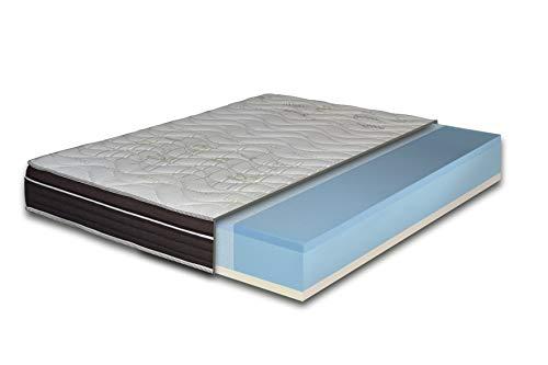 EcoDream - Materasso Memory Foam con Gel Rinfrescante, Una Piazza e Mezza 120x190 - Alto 25 cm, Rigidità H2 Media, Refrigerante, Rivestimento Sfoderabile in Cotone Antiacaro - Made in Italy