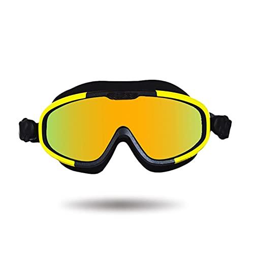 SONG Máscara de Buceo Amplia Panorámica Gafas de Buceo Gafas de natación Gafas de Buceo Anti-Niebla de Alta definición portátil Adecuado para Hombres y Mujeres (Cor : Yellow)