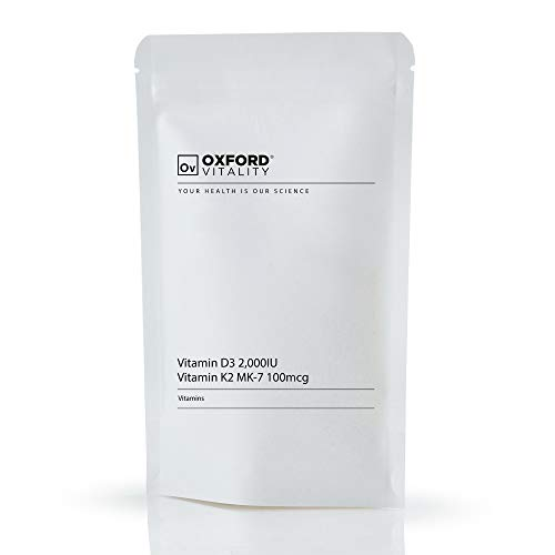 Ov Oxford Vitality Vitamin D3 2000IU and Vitamin K2-MK7 100mcg (120)