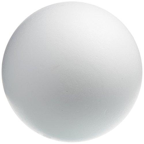Rayher 3306300 Sfera in Polistirolo, Divisibile, 2 Semisfere, da Decorare e Colorare, Bianco, 40 cm