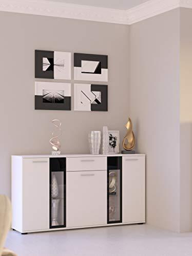 Küchen-Preisbombe Kommode Sideboard Salsa Wohnwand Wohnzimmer Anbauwand Weiss matt