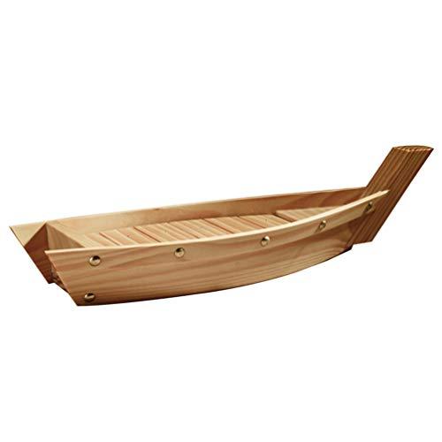 YARNOW Barco de Sushi de Bambú Plato de Barco de Sushi de Madera Bandeja de Servicio de Sushi Barco Plato de Barco de Sushi L