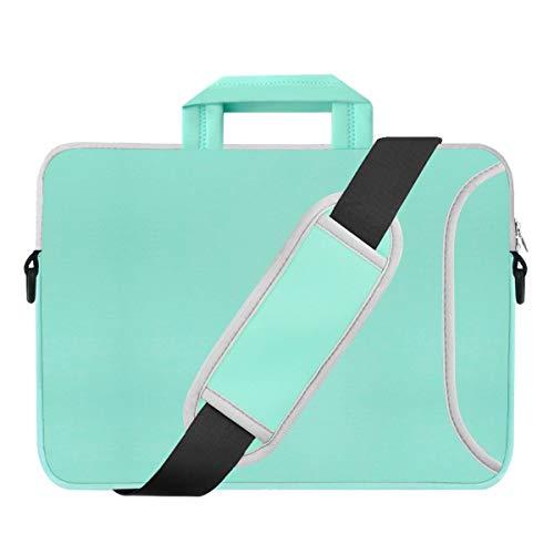 Kitron(TM) 15'-15.6-Inch Turquoise Mint Green Chevron Waterproof Neoprene Laptop Sleeve Case Bag HandbagCarry Case Bag Side Pocket,Carrying Handle Removable Shoulder Strap