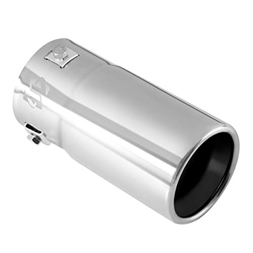 Exhaust tip - to Fit 1.75 to 2.5 Inch Exhaust Tail Pipe Diameter- Stainless Steel to give Chrome Effect - Car Muffler Tips