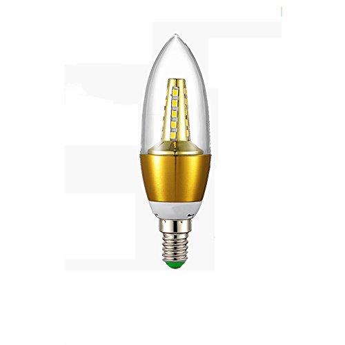 OOFAY Bulbs Light@ E14 Kerze LED Lampe Für Kronleuchter E14 Glühfaden Retrofit Classic 5W 450 Lumen Ersetzt 50 Watt 3500K Warmweiß Filament Fadenlampe Nicht Dimmbar, 5Er Pack,A