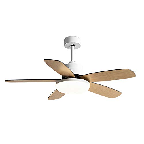 BAIDEFENG Ceiling Fan Chandelier, with Remote Control and Dimmable Integrated LED Light Frosted Fixture 36' Contemporary Indoor Use,220V
