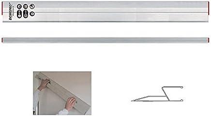 Abziehlatte DEWEPRO/® Alu Richtlatte Setzlatte Putzlatte mit Handgriff und 2 Libellen L/änge: 120cm // 1,2m