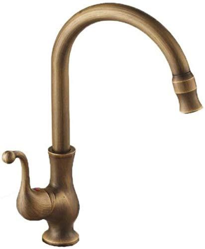 Grifo de Cocina,Lavabo de baño antiguo antiguo grifo de lavabo de agua fría y caliente retro Grifo de lavabo
