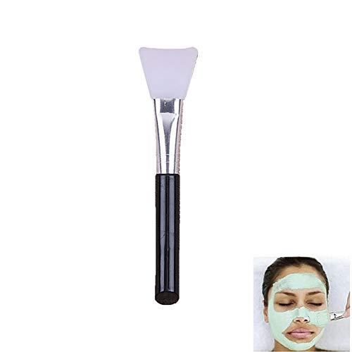 1pc silicone Pinceau applicateur bricolage masque facial Masque de boue Lotion et du corps Beurre Applicateur Outils Brosse Masque de boue visage de mélange Brosse (poignée noire)