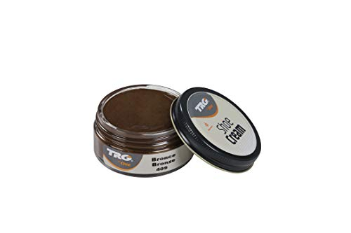 TRG Shoe Cream Rejuvenating Leather Care for Shoes Boots Metallic Colors, 1.7 fl.Oz (409 - Bronze)