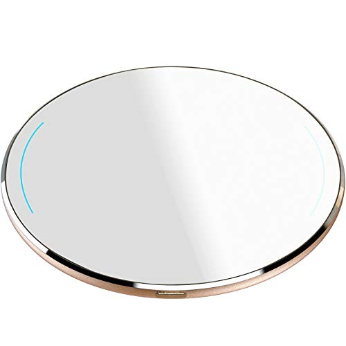 TOZO W1 Wireless Charger Thin Aviation Aluminum Computer Numerical Control Technology Fast Charging Pad Gold (NO AC Adapter)