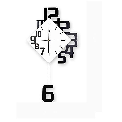 Péndulo, El Columpio del Reloj De Pared del Diseño Moderno Estilo Nórdico De La Sala Relojes De Pared Decoración para El Hogar Creativo De La Manera Silenciosa Dormitorio
