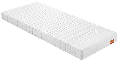 sleepling 194118 7-Zonen Kaltschaummatratze Basic 70 - Härtegrad 3 140 x 200 x 16 cm, weiß