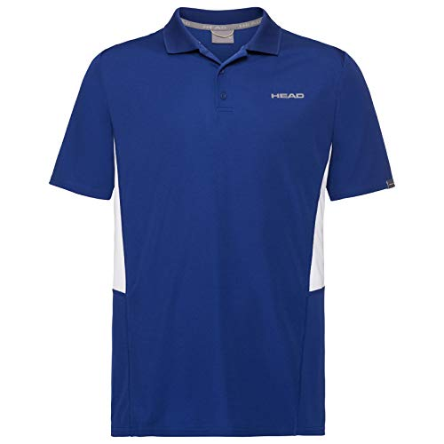 HEAD Club Tech, Polo Uomo, Blu, 2XL