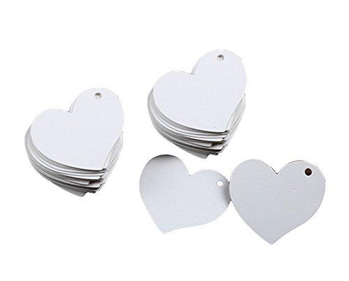 Hosaire 100Pcs Cadeau Tags Vintage /étiquettes Cadeaux en Papier Kraft Tags Forme de Coeur Perforation D/écor de Mariage No/ël F/ête Blanc Sans corde