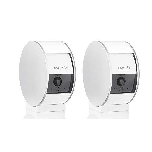 Somfy 1870469 – Pack de 2 Somfy Indoor Camera | Volet Motorisé | Détecteur de Mouvement & vision nocturne | Haut-Parleur & Microphone