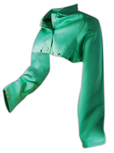 Magid Safety SparkGuard 1855S FR Cape Sleeve | ASTM D6413 Compliant Flame Resistant Cape Sleeve with an Adjustable Snap Wrist Closure - Green, Large (1 Cape)