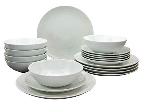 Creatable Blanco 20238 Serie Campo - Vajilla (18 piezas, porcelana), color blanco