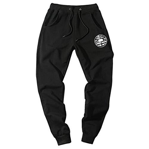 Casual Funny Print Dragon Ball Goku Herren Hosen Baumwolle Herbst Winter Grau Herren Jogger Jogginghose Plus Size Black Trouser