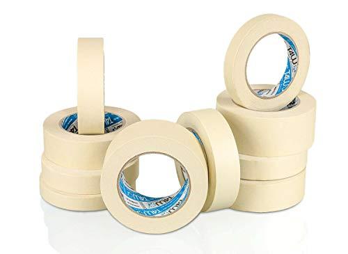 T4W Thoma 4 Werkstatt Abklebeband 36mmx50m 6 Rollen 80°C Abdeckband Klebeband Kreppband Maler Krepp
