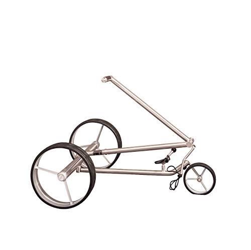 Parccurate Kolibri Edelstahl Lithium Elektrotrolley Golfcaddy, mit Falt-/Zerlege-Design, Basismodell ohne Fernsteuerung - 7