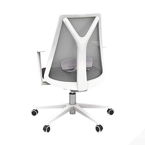 Manyao Silla de Ordenador, Home Office Chair Estudio Silla Silla de Oficina Silla cómoda Multi-ángulo reclinable Ajustable soporta Carga 300 Kg, Blanco, 60 * 60 * 90cm