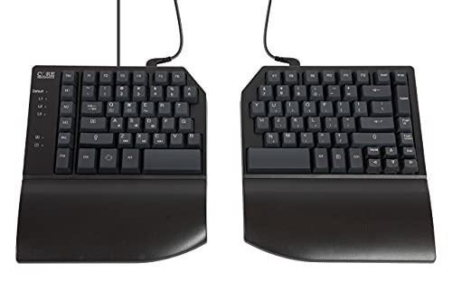 CORE MECHANICS Split Mechanical Keyboard – 1 MS, All Keys Programmable, 3 Programmable Layers 4 Macro Keys, Ergonomic, Durable, PBT Keycaps.