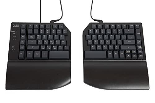 CORE MECHANICS Split Mechanical Keyboard – 1 MS, All Keys Programmable, 3 Programmable Layers 4 Macro Keys, Durable, PBT Keycaps.