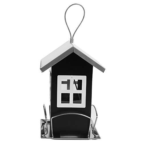 POPETPOP Comederos para Pájaros Colgantes de Jardín Comederos para Pájaros Gazebo Hierro Forjado Colgante en Forma de Casa para La Observación de Aves Y Jardín Decoraciones Exteriores